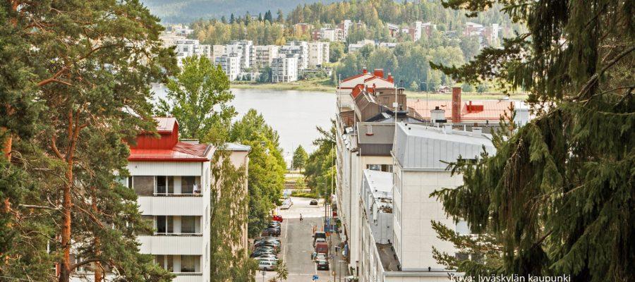 Jyväskylän kaupunki harjulta