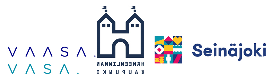 Vaasan, Hämeenlinnan ja Seinäjoen logot