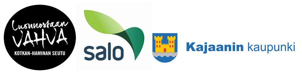 Kotka-Haminan seudun logo, Salon ja Kajaanin logot